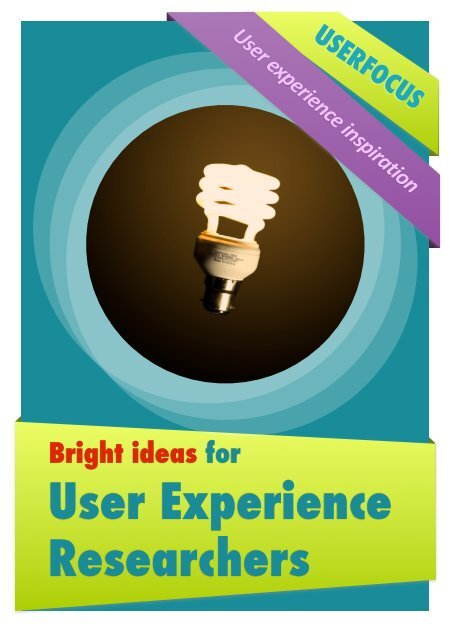 User Experience Researchers