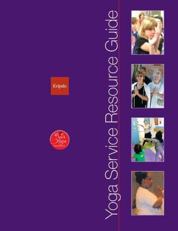 Yoga Service Resource Guide