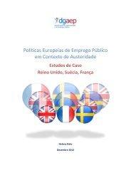 Políticas Europeias de Emprego Público em Contexto de Austeridade