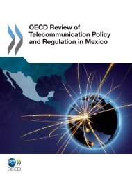 OECD Review of Telecommunication Policy and Regulation in Mexico
