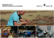 Namibian Sun® - Knill Gold