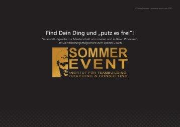 """Find Dein Ding und """"putz es frei""""!"""