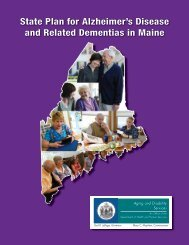 State Plan for Alzheimer's Disease and Related Dementias in Maine