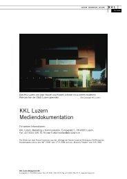 KKL Luzern Mediendokumentation - Kultur- und Kongresszentrum ...