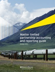 Master limited partnership accounting and reporting guide t