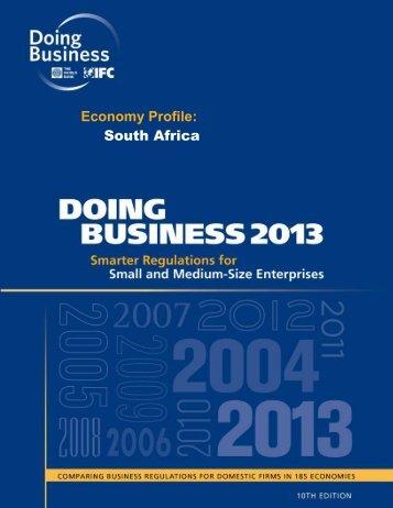 Economy Profile: South Africa