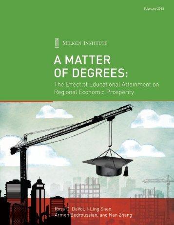 A MAtter of Degrees: