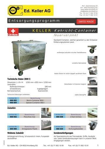 Spezial-Container - Ed. Keller AG, Kirchberg