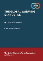 THE GLOBAL WARMING STANDSTILL