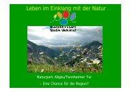 Leben im Einklang mit der Natur