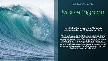 Marktingplan BMBSolutions GmbH