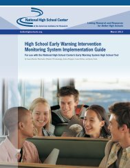 High School Early Warning Intervention Monitoring System Implementation Guide