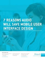 7 reasons audio will save Mobile user interface design