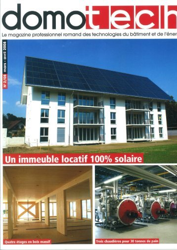 Artikel DOMOTECH - Jenni Energietechnik AG