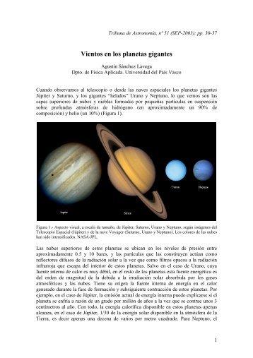 Vientos en los planetas gigantes