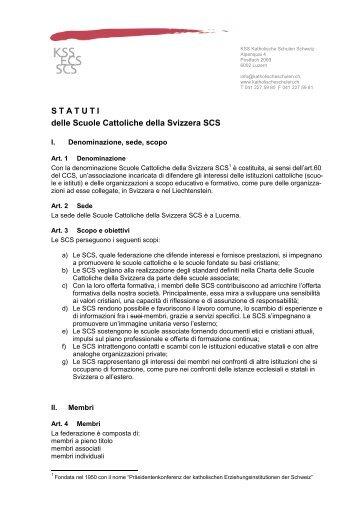 STATUTI delle Scuole Cattoliche della Svizzera SCS
