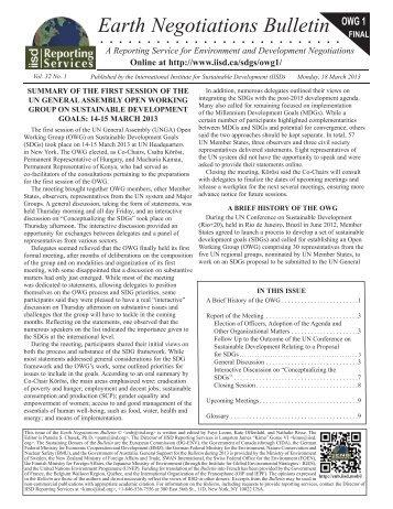 Earth Negotiations Bulletin