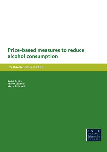 Price-based measures to reduce alcohol consumption