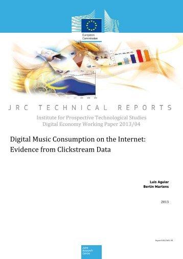 Digital Music Consumption on the Internet: Evidence from Clickstream Data
