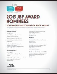 2013 jbf award nominees