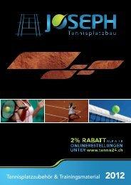 KATALOG 2012.indd - Joseph Tennisplatzbau AG