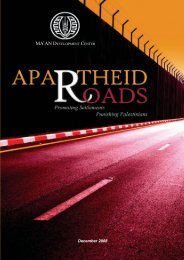 APARTHEID ROADS: