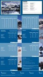 Preise Winter 2010/11 - Davos