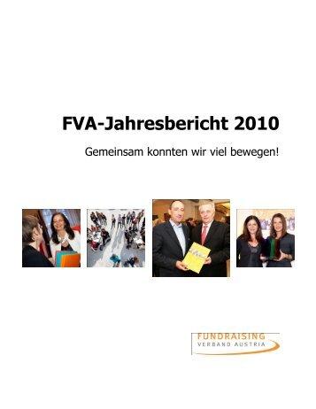 Download Jahresbericht 2010 - Fundraising Verband Austria
