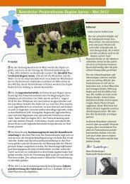 Newsletter Pastoralraum Region Aarau – Mai 2012