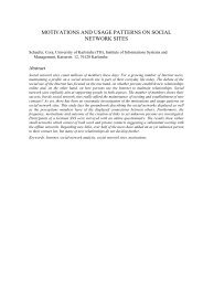 motivations and usage patterns on social network sites - LSE ...