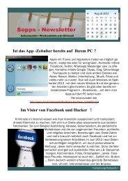 Ist das App -Zeitalter bereits auf Ihrem PC ? Im Visier von Facebook ...