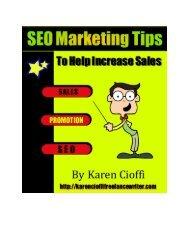 SEO Marketing Tips to Help Increase Sales - Karen Cioffi Freelance ...