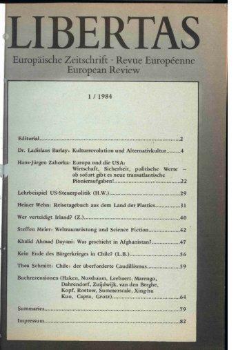 Gedruckt wird LEZ1_1984.tif (43 Seiten) - Libertas Europäisches ...