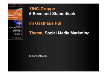 XING-Gruppe 5-Seenland-Stammtisch im Gasthaus Ruf Thema ...