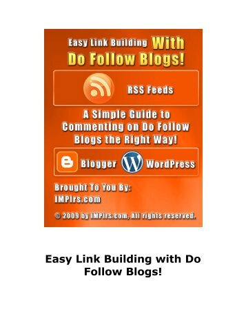 Easy Link Building with Do Follow Blogs - Private Label Rights ...