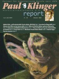 Heft 36/10 Download PDF - Paul-Klinger-Künstlersozialwerk eV