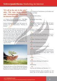 Marketing im Internet (PDF) - The Black Swan