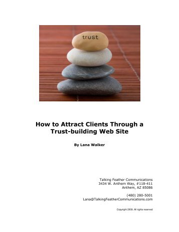 How to Attract Clients Through a Trust-building Web Site