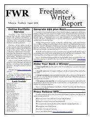 Freelance Writer's Report - Writers-Editors Network