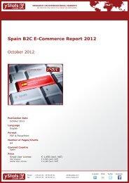 Spain B2C E-Commerce Report 2012 - yStats.com