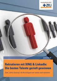 Rekrutieren mit XING & LinkedIn - ZfU - International Business School