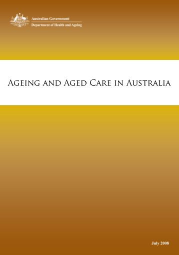 Ageing and Aged Care in Australia