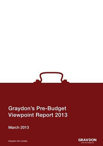 Graydon's Pre-Budget Viewpoint Report 2013