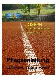 CONIPUR® TENNIS FORCE - Joseph Tennisplatzbau AG