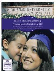 M.Ed. in Educational Leadership Principal Leadership Fellows at TCU