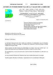 Dossier de Declaration DDT60. - Syndicat Intercommunal de la ...