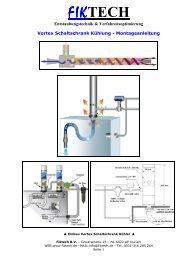 Vortex Wirbelrohr Schaltschrank Kühler - Montageanleitung