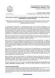 Presse et Information - Cour de justice (CURIA) - Europa