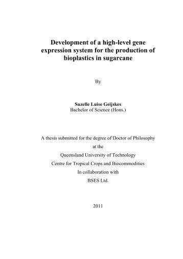 qut eprints thesis Design, maintenance and methodology for analysing longitudinal social surveys, including applications by nathan domrow, bsc (university of queensland) school of.