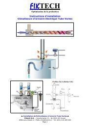 Tube Vortex Climatiseur Refroidisseur Armoire Instructions Montage Fiktech